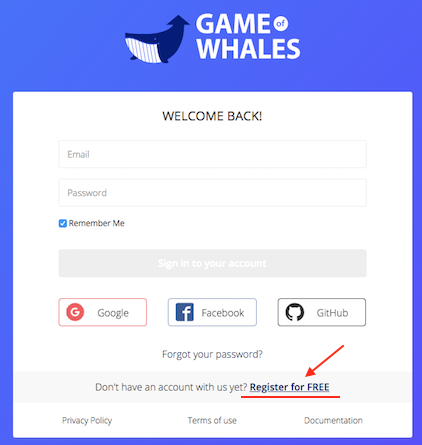 REGISTRATION | Game of Whales